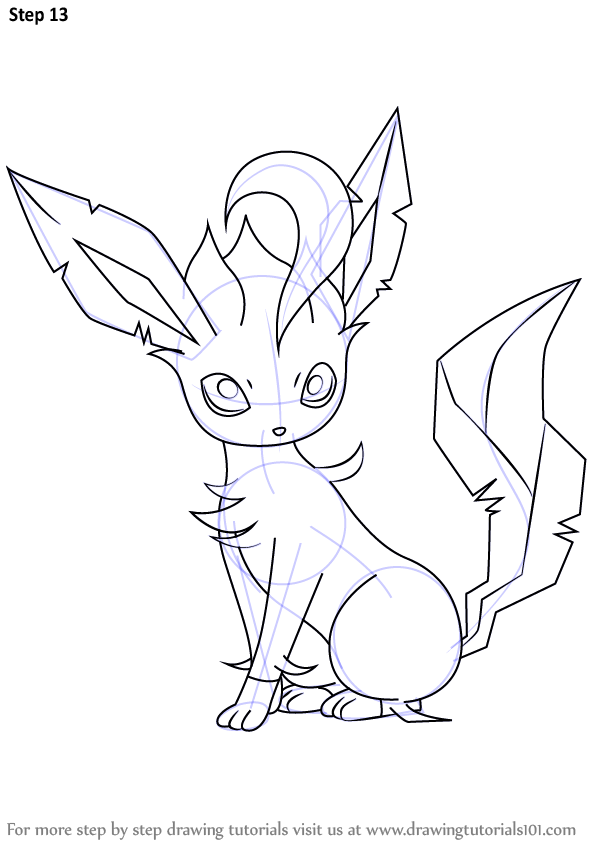 Learn How To Draw Leafeon From Pokemon Pokemon Step By Step Drawing Tutorials Pokemon Coloring Pages Pokemon Coloring Pokemon Sketch