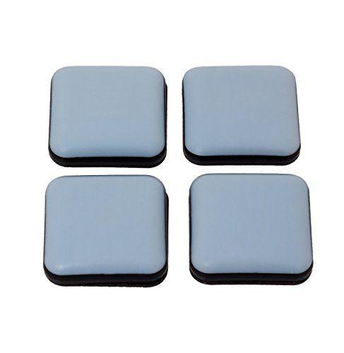 30 x 30 mm carré pour meubles Patins en téflon (Lot de 4