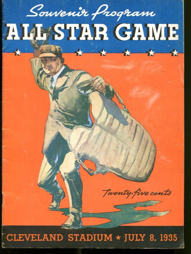 1935 MLB All Star game Program. Cleveland Stadium MLB