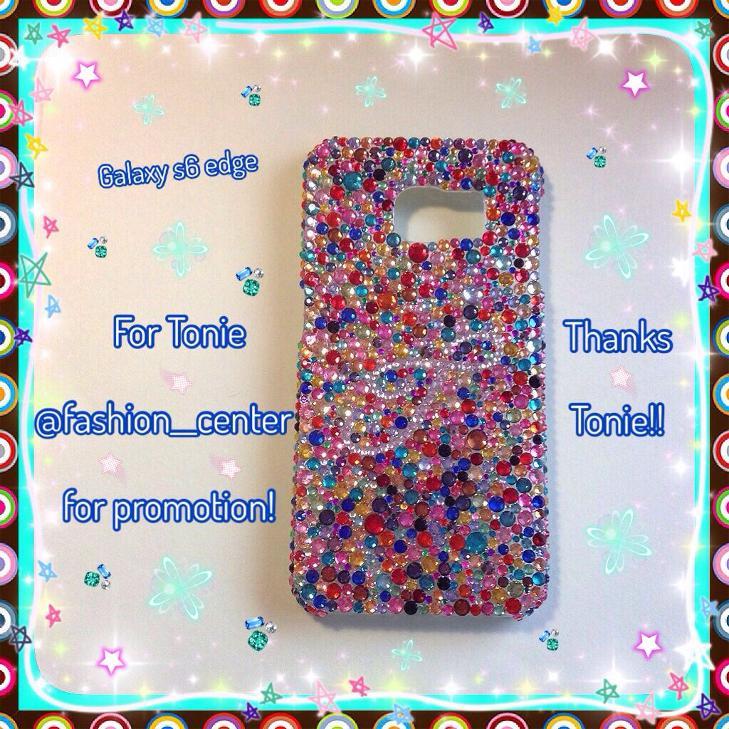 Galaxy s6 edge custom case from my shop on Storenvy-Cherbearphonecases  Check out my Instagram @cchobbo to see all of my cases, you can always DM there to order!