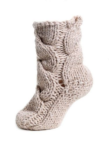 Chunky Cable Socks pattern by TOFT | Baby socks knitting ...