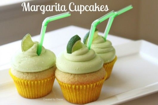 Margarita Cupcake Recipe with Margarita Frosting with tequila delicious!