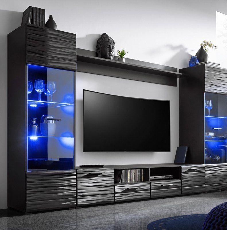 Priebe Entertainment Center For Tvs Up To 75 Modern Tv Room Tv Room Design Tv Cabinet Design