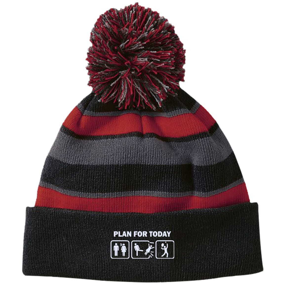 8497e64c900 PLAN FOR TODAY 223835 Holloway Striped Beanie with Pom