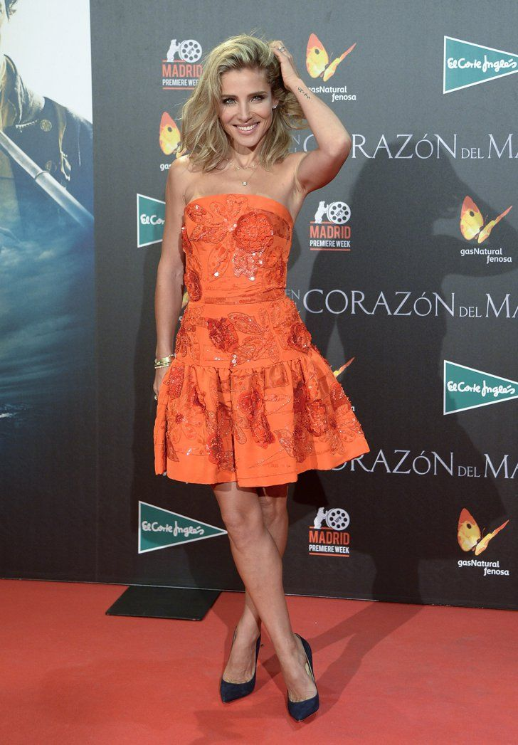 Pin for Later: Let These Ladies in Red Inspire Your Valentine's Day Look Elsa Pataky