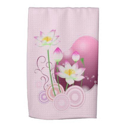Lotus flowers hand towel kitchen gifts diy ideas decor special shop lotus flowers hand towel created by personalize it with photos text or purchase as is mightylinksfo