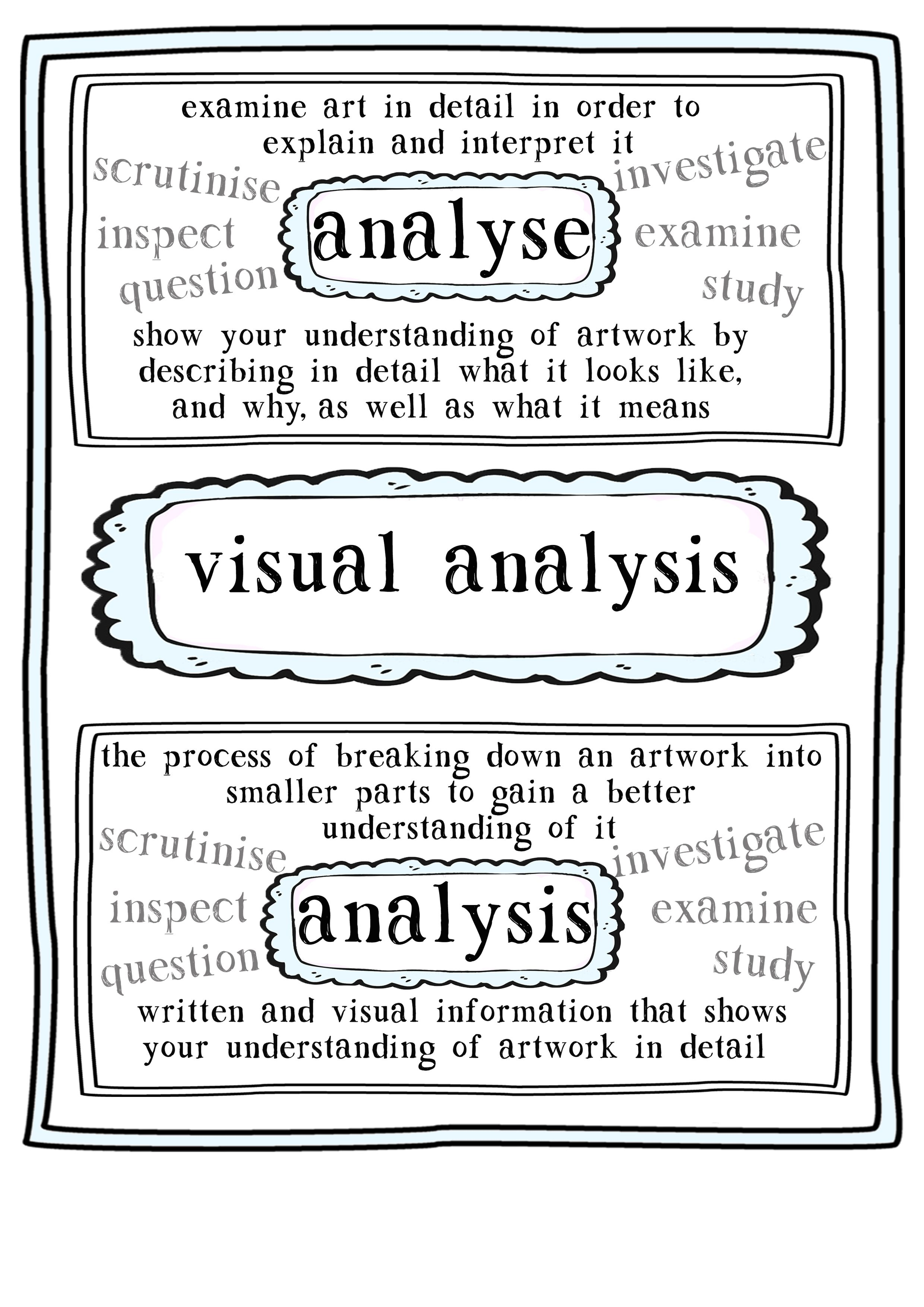 visual art analysis Is it art is it science is it both visual analysis in an iterative process for working  with data that exploits the power of the human visual system the formal core.