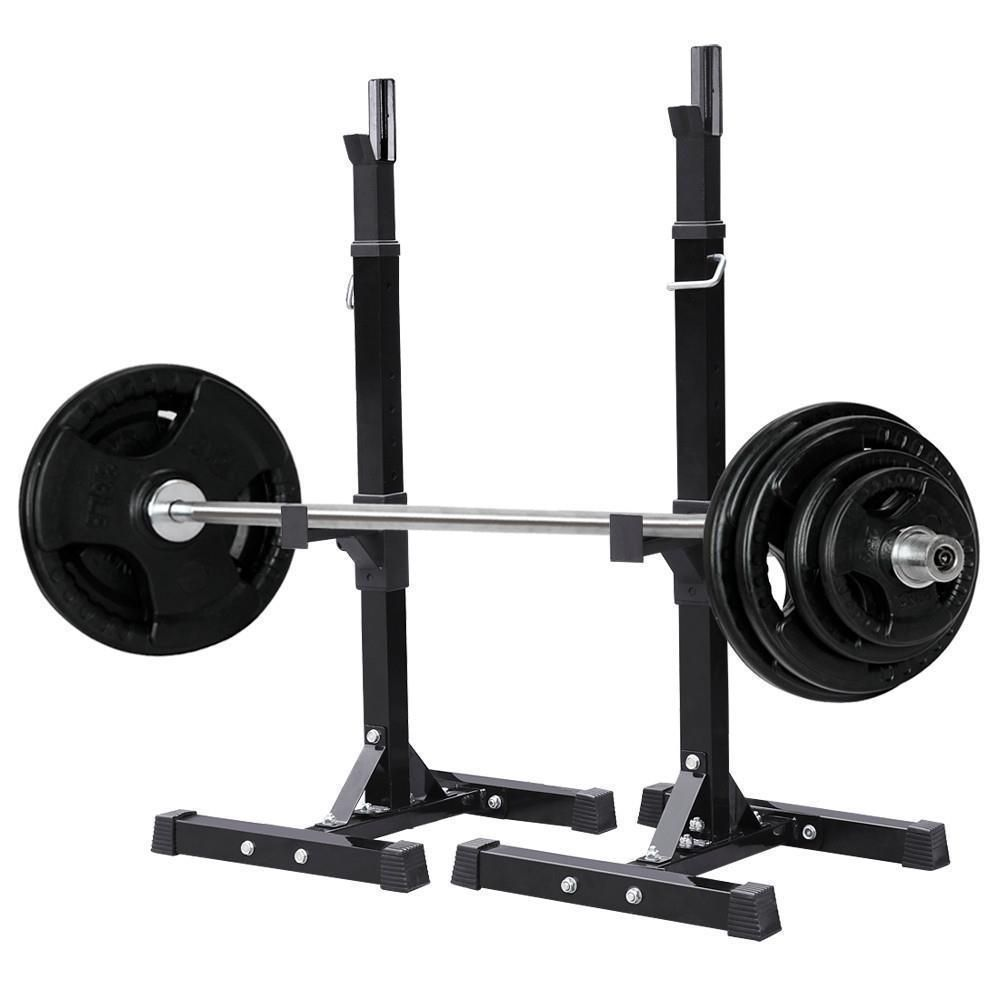 Fully Adjustable Heavy Duty Steel Squat Station Bench Press Bar Weight Lift Rack Squat Rack Squat Stands Barbell Gym