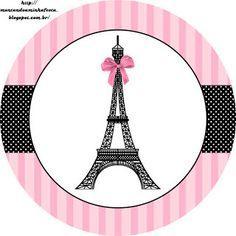LARGE SET-- Montando a minha festa: Paris preto e rosa