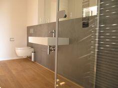 Badezimmer Holzfliesen Perfekt : Holzfliesen beton cire weiß bad perfect beauty