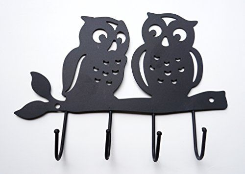 Zoohu Black Owl Wall Mount Key Holder Key Hooks Key Rack Hook Rack Zoohu Http Www Amazon Com Dp B00ocxyc1y Ref Wall Mounted Key Holder Owl Wall Key Holder