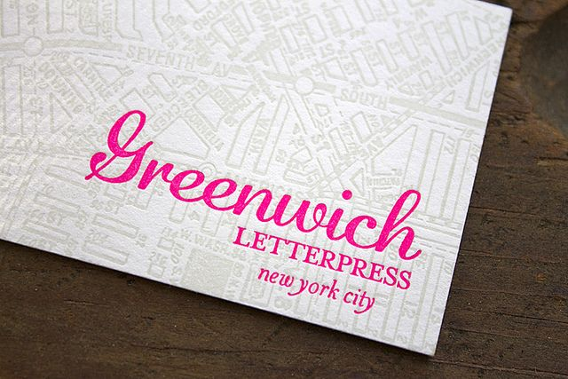 Greenwich letterpress new business cards by greenwich letterpress greenwich letterpress new business cards by greenwich letterpress via flickr reheart Images