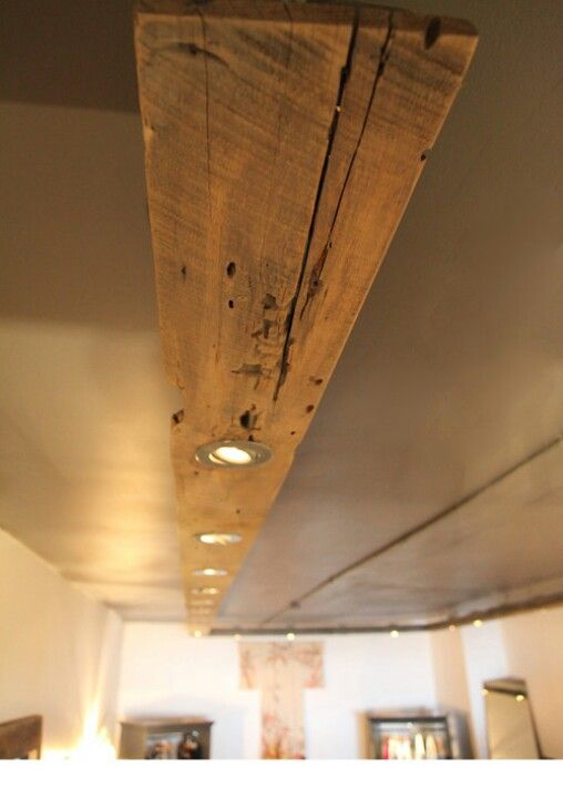 Wooden Beam Downlights Ideas Home Pinterest Beams