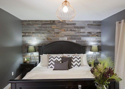 Grey Bedroom Master Wood Wallaccent
