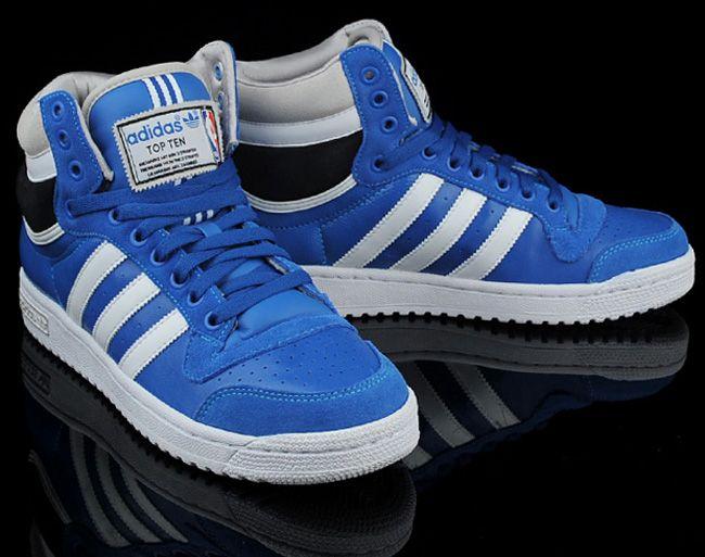 premium selection 46cbb 09b6a Adidas Originals Top Ten Hi Nba Blue Black F5