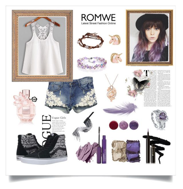"""""""Purple & Pink Romwe"""" by roseforbes ❤ liked on Polyvore featuring WithChic, Vans, Viktor & Rolf, Lancôme, Bobbi Brown Cosmetics, By Terry, NARS Cosmetics, Chan Luu, BERRICLE and Deborah Lippmann"""