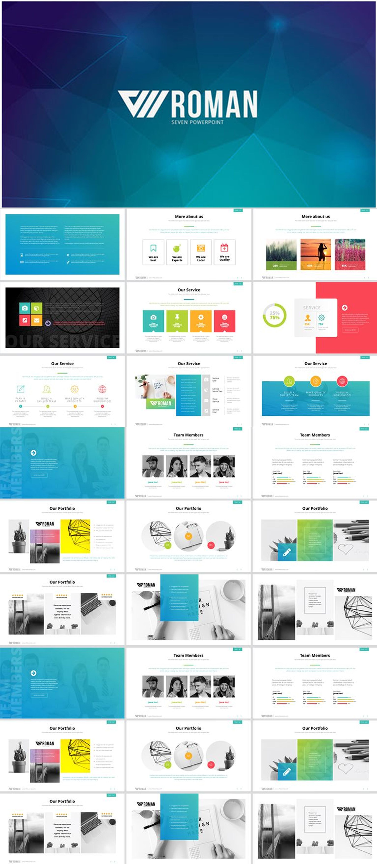 wava powerpoint template creative presentation ideas pinterest