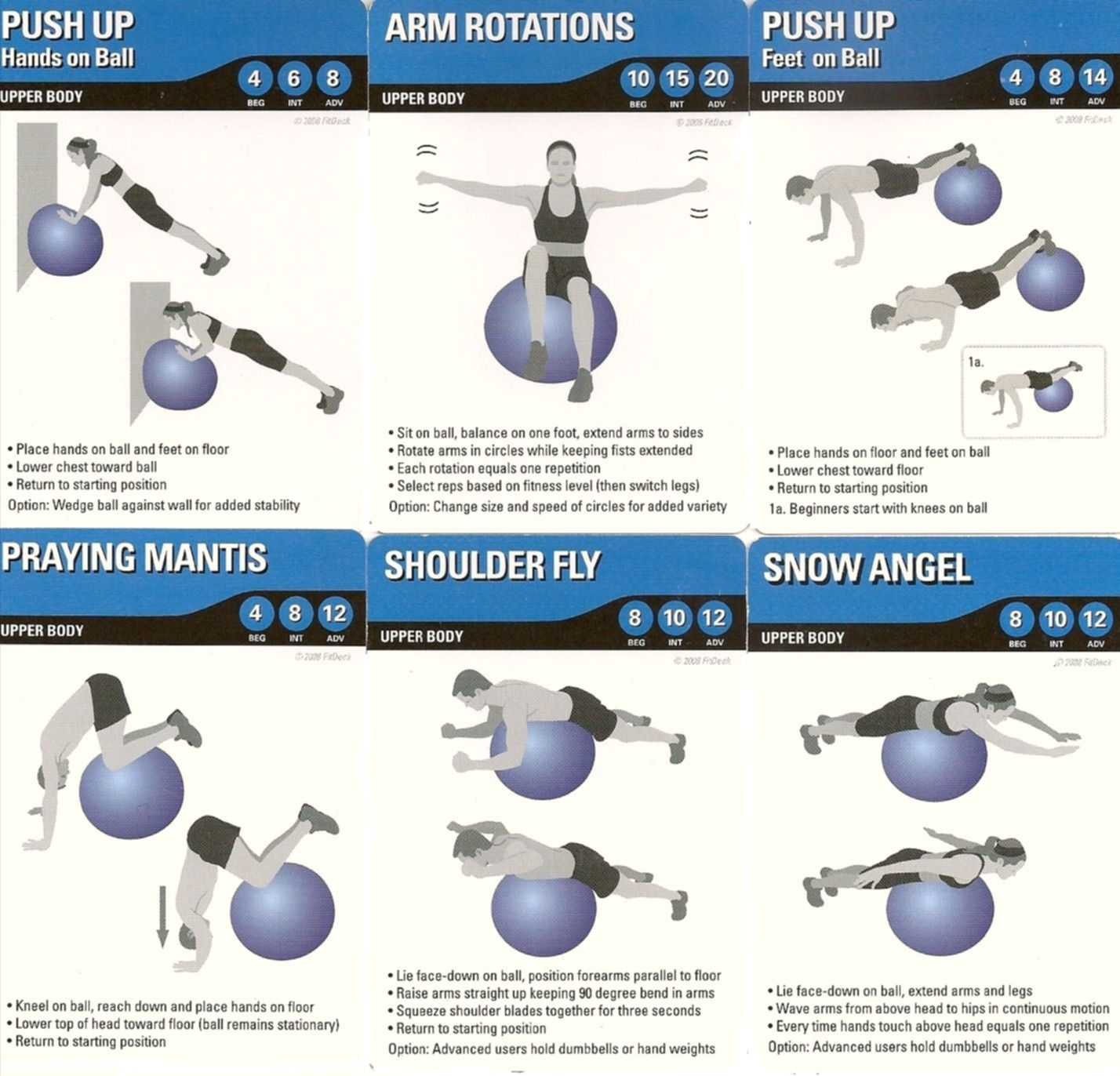 Stability Ball Workout Routine: Upper Body Stability Ball Exercises