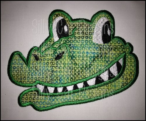 Smiling Alligator Applique Design Embroidery Ideas