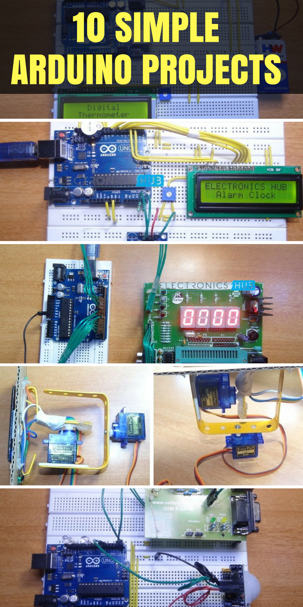10 Simple Arduino Projects For Beginners With Code Digital Thermometer Circuit Projetos Eletrnica