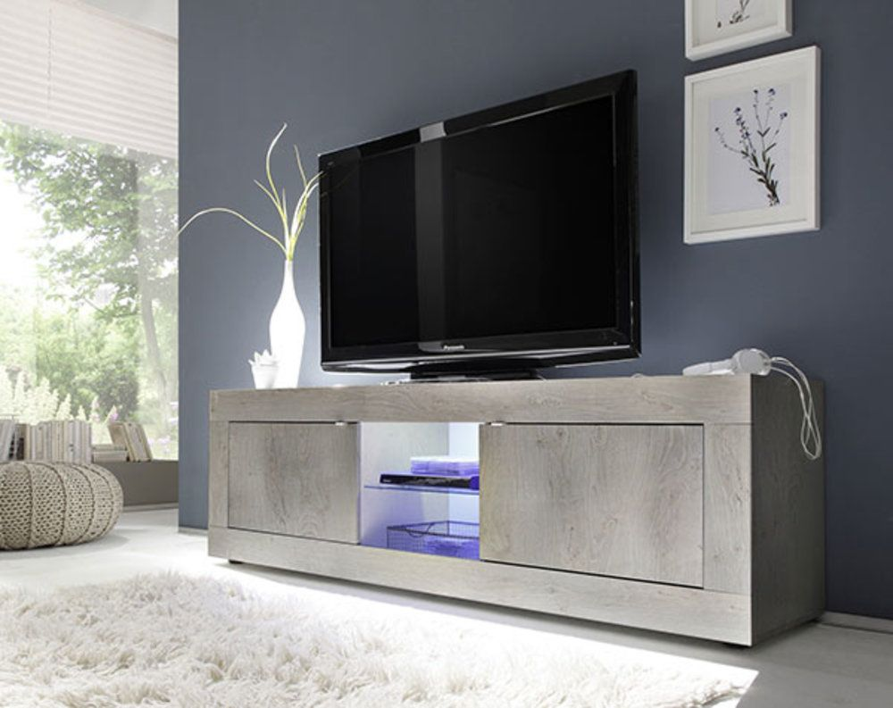Meuble Tv Gm Costa Pin Blanchi Avec Images Meuble Tele Design Meuble Tv Design Meuble Tv Blanc