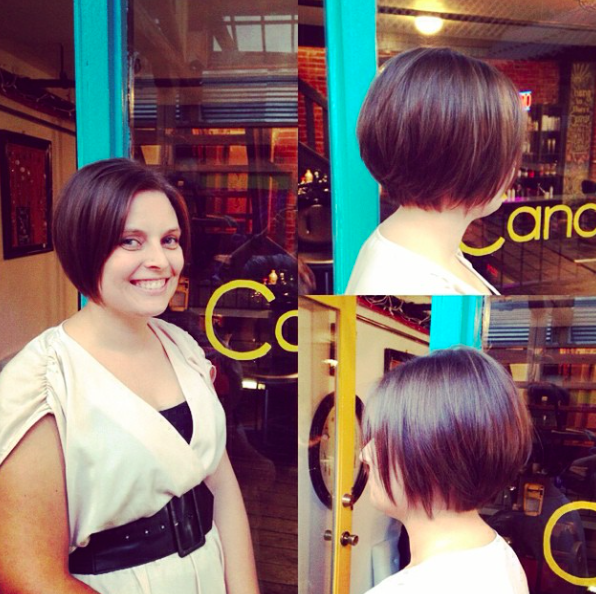 Classic Chin Length Bob With Face Framing Highlights Haircut Done