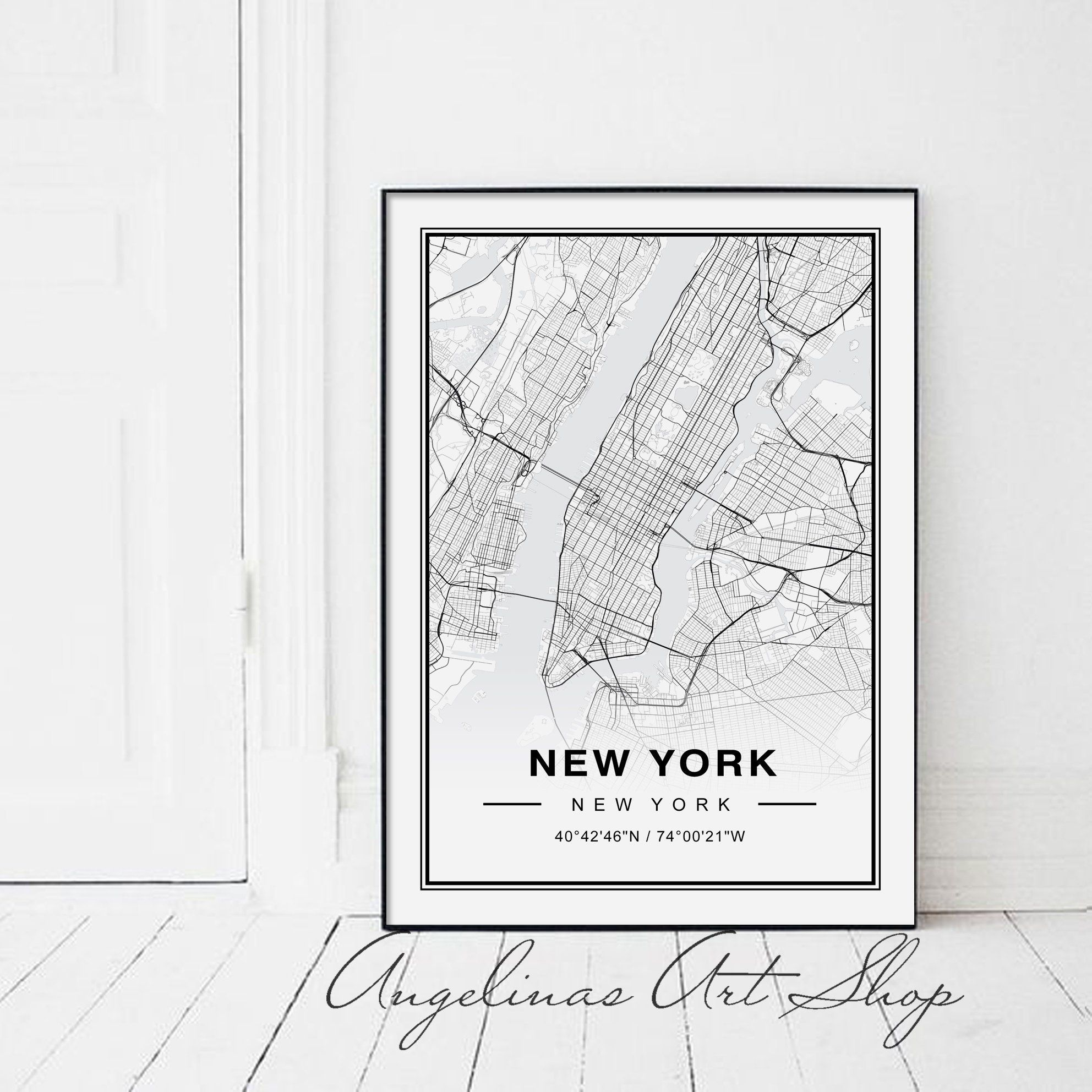 New York Map, New York City Map, New York City, Manhahattan ...
