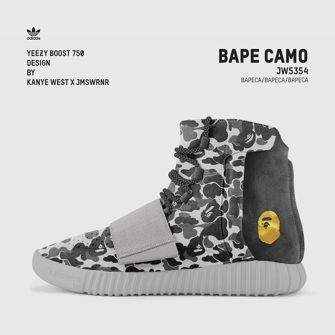 f7418ea5c610 Yeezy Boost 750   BAPE Camo  yeezyboost750  yeezy  customshoes  design  bape
