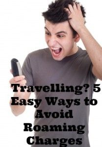 5 simple ways to avoid roaming charges while travelling. Great tips to share with tweens and teens!