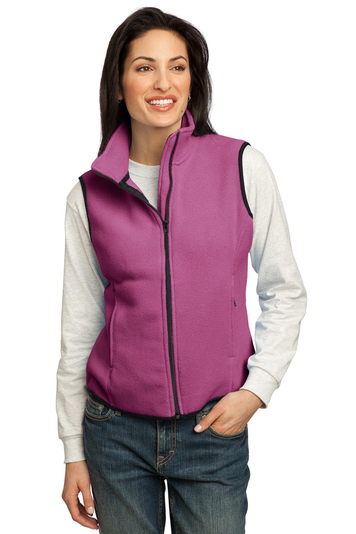 Port Authority Ladies R-Tek Fleece Vest.LP79 Raspberry