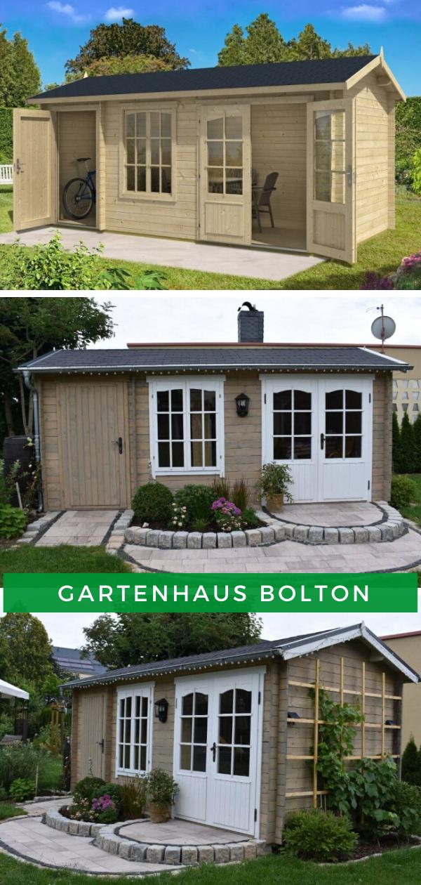 2 Raum Gartenhaus Bolton 28 Xl In 2020 Tuin