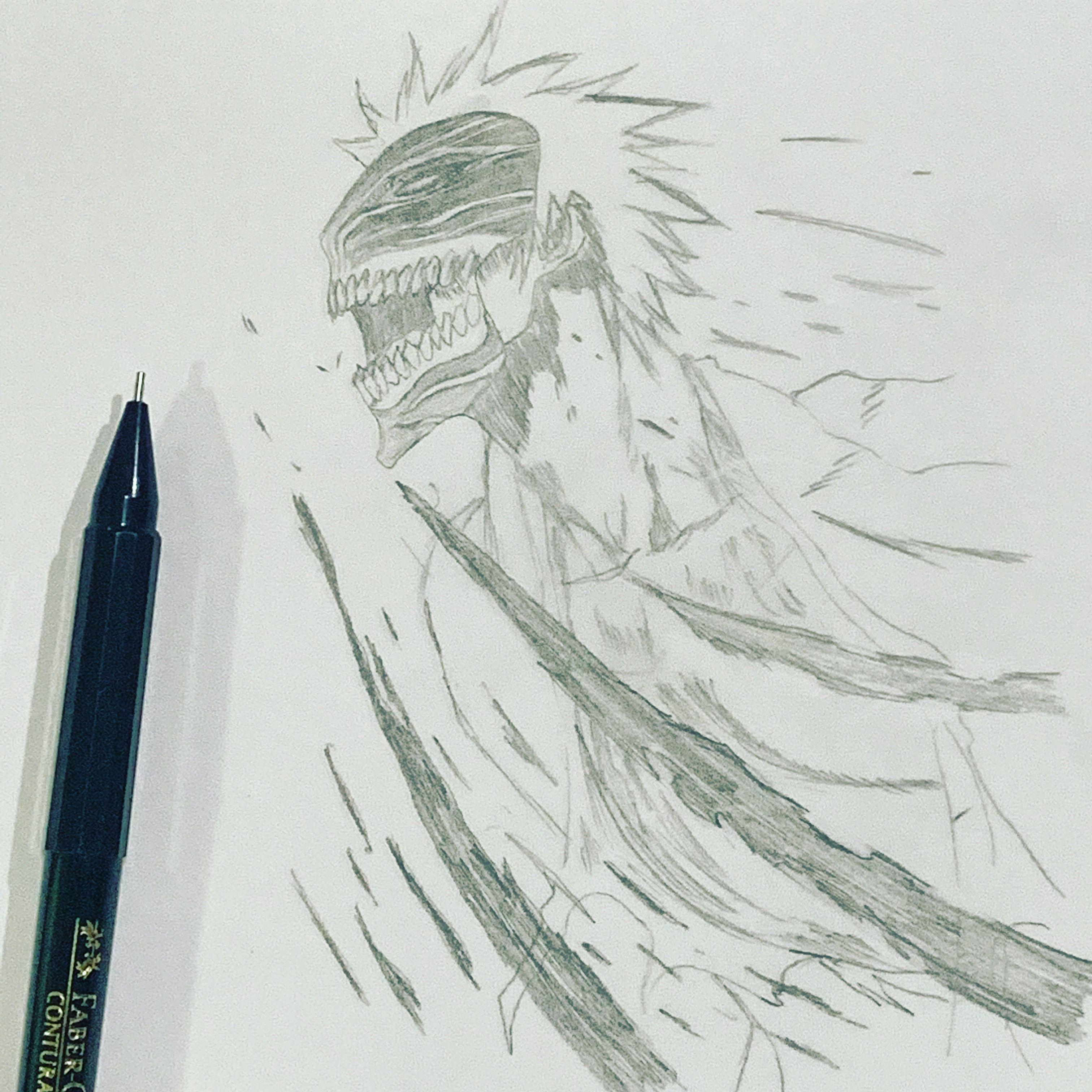 Ichigo Kurosaki From Bleach Anime Drawing Pencil Bleach Drawing Bleach Anime Drawings [ 3024 x 3024 Pixel ]