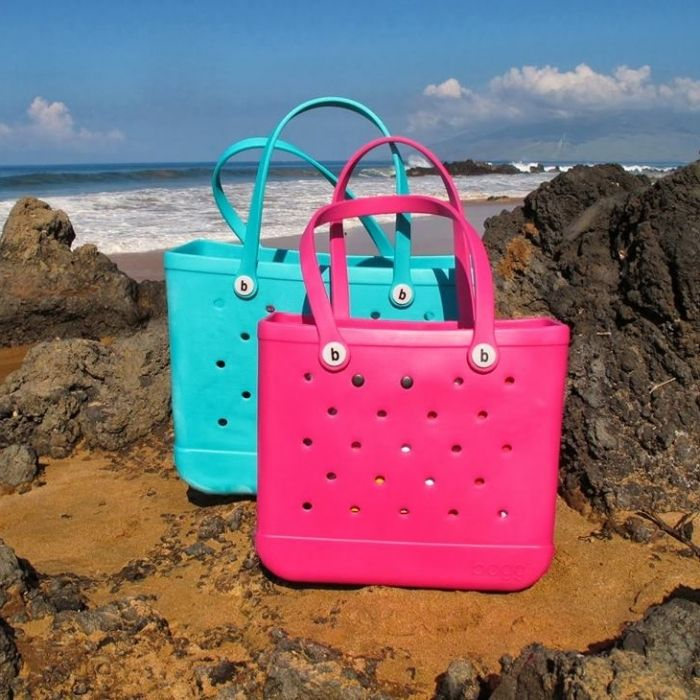 82b13bc1dee8a Literally the best beach bag EVER. Made from the same material as those  ugly shoes we all love to wear