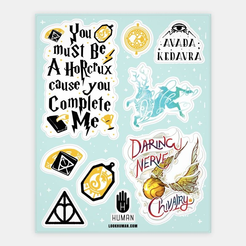 Wizard school stickers stickers sticker sheets and vinyl stickers human