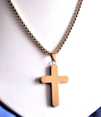 925 Silver Small Cross 12mm x 8mm on 18 inch Curb Chain Necklace Gift Boxed