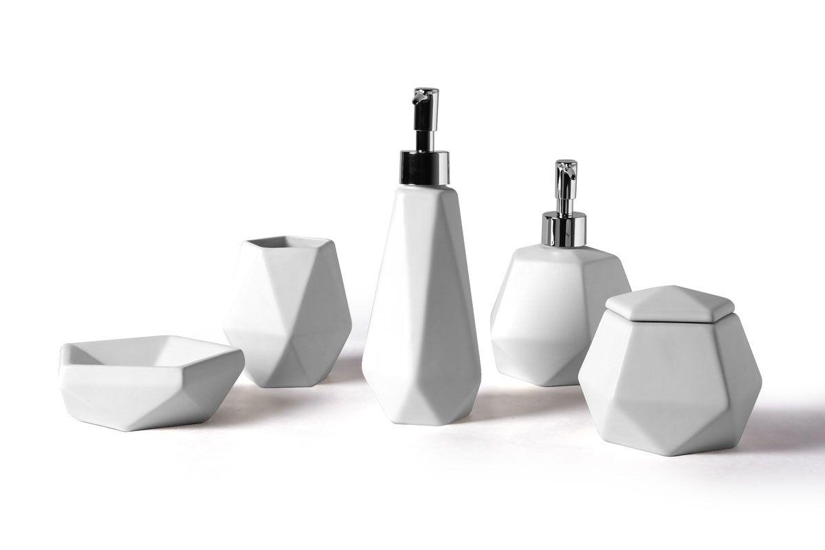 Accessoires salle de bain noir et blanc - Accessoires salle de bain design noir ...