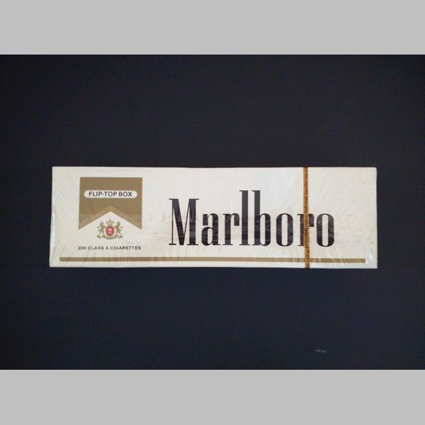 Filtered and unfiltered cigarettes Marlboro