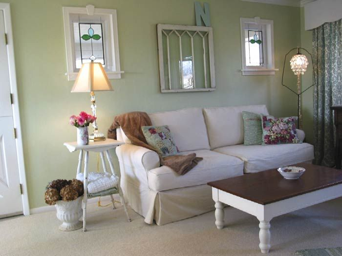 Maybe Green Living Room Sea Drops By Glidden