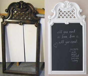 instead of an entire wall just a chalkboard frame would be cheaper and - Diy Chalkboard Frame