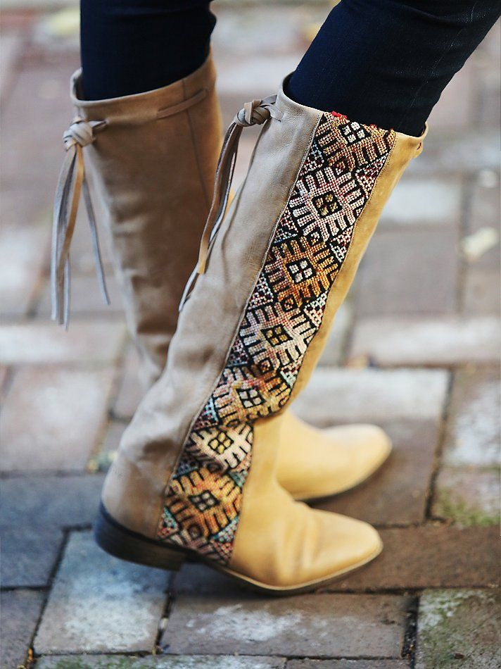 The Hottest Styles Free People Boots Blue And White Stitch For Women