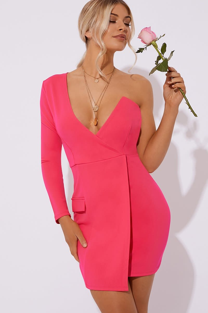 d272c538af8 Della pink one shoulder tux dress in 2019