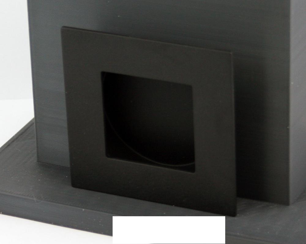 Matte Black Sq Flush Pull (each | Matte black, Hardware and Sliding ...