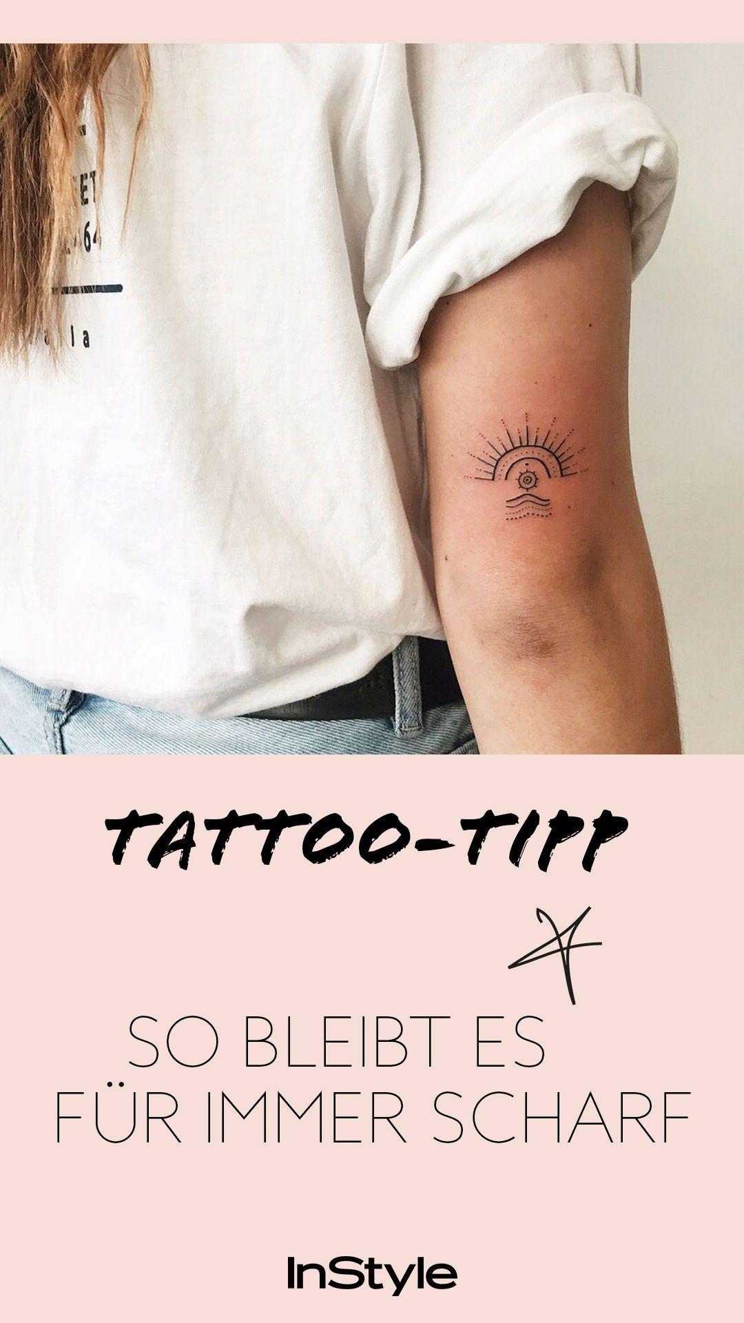 Nur Wenn Du Dein Tattoo So Pflegst Bleibt Es Gestochen Scharf