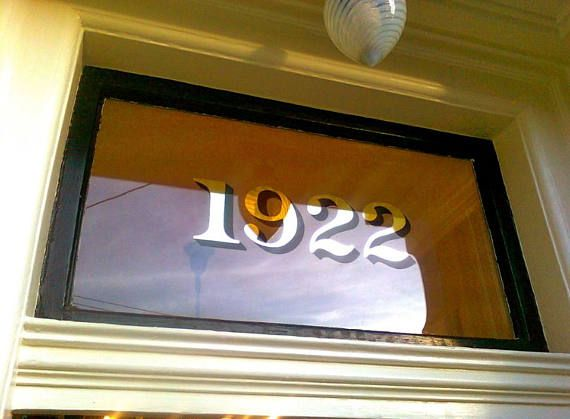 Home Address Transom Numbers House Building Numbers Glass Etsy House Numbers Victorian House Numbers Number Stickers