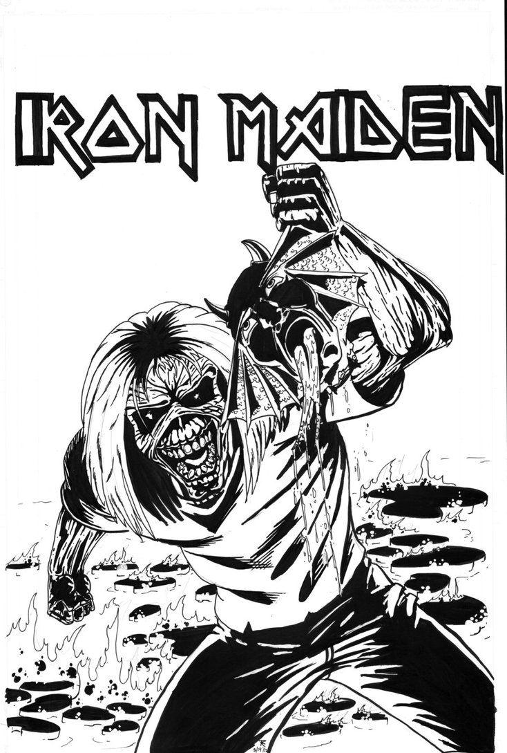 Iron Maiden tribute piece by cerebraleye | iron maiden, | Pinterest ...