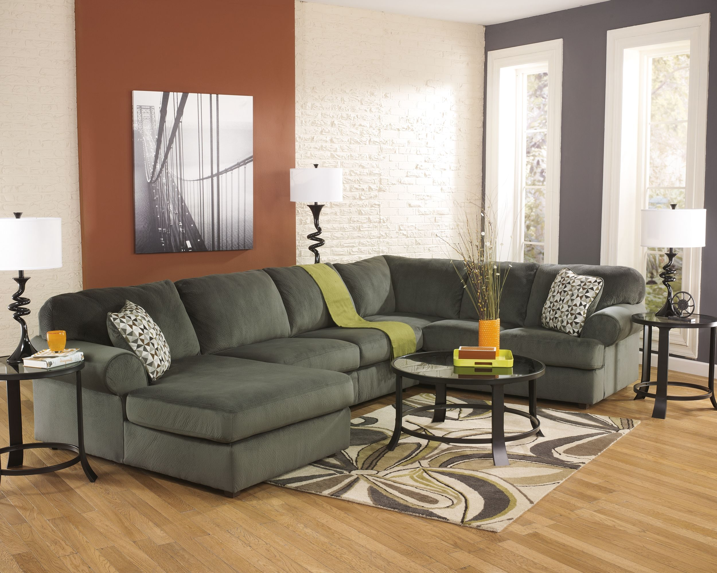 Fabulous Jessa Place 3 Piece Sectional Pewter Products Living Gmtry Best Dining Table And Chair Ideas Images Gmtryco
