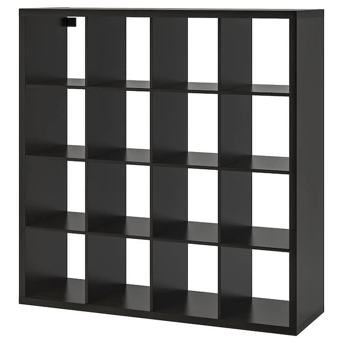 Ikea Kallax Black Brown Shelf Unit Kallax Shelf Unit Kallax