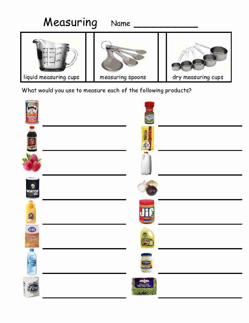 Worksheets Cooking Measurements Worksheet empowered by them measuring devices life skills pinterest devices