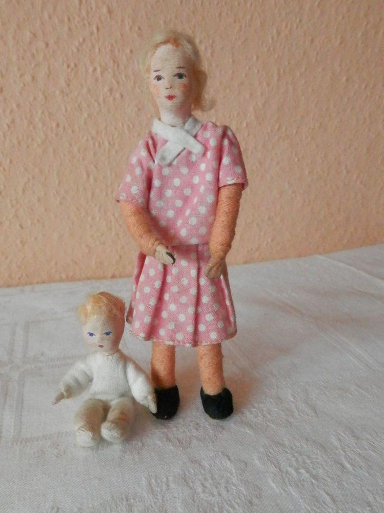 Zwei Alte Puppen Biegepuppen Erna Meyer 50 60er Jahre Dolls