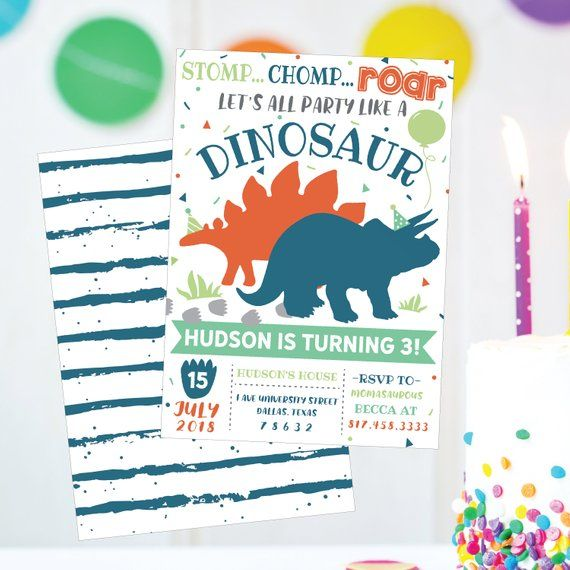 kids birthday invite dinosaur kids birthday invitation template